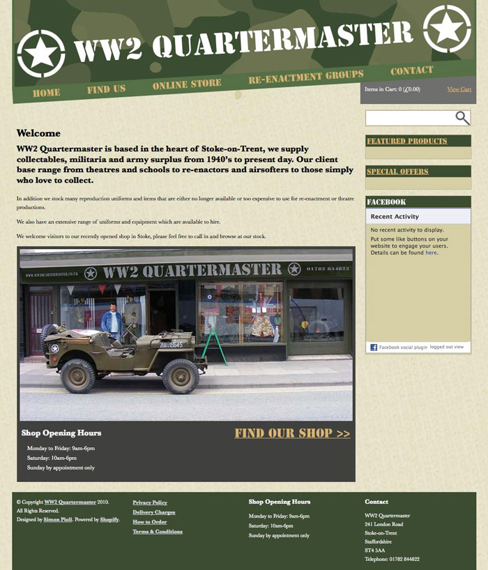 WW2 Quartermaster-Home