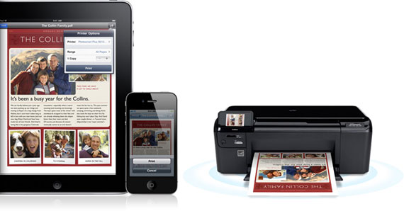 AirPrint as depicted by Apple website. Copyright © 2010 Apple Inc. All rights reserved.