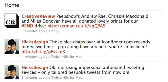 Example: My Twitter Stream