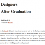 Designers After Graduation Screenshot